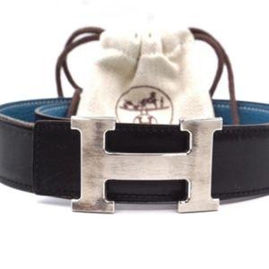 Hermes Reversible H Plate Belt 80/32